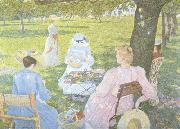 Theo Van Rysselberghe Family in an Orchard (nn02) oil