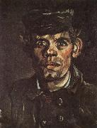 Vincent Van Gogh Head of a Young Peasant in a Peaken Cap (nn04) painting