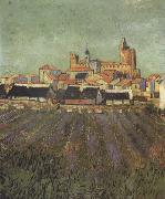 Vincent Van Gogh View of Saintes-Maries (nn04) china oil painting artist