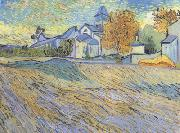 Vincent Van Gogh View of the Church of Saint-Paul de-Mausole (nn04) china oil painting artist