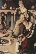 Vittore Carpaccio Two Venetian Ladies on a Balcony (nn03) oil painting reproduction