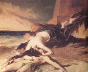 William Etty Hero and Leander (nn03) painting