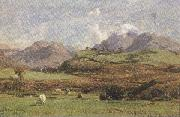 david farquharson,r.a.,a.r.s.a.,r.s.w Glenorchy's Prond Mountain (mk37) oil