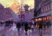 unknow artist Paris Street oil on canvas