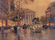 unknow artist Paris Street oil painting
