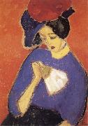 Alexei Jawlensky Woman with a Fan painting
