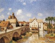 Alfred Sisley The Bridge of Moret oil painting reproduction