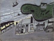Alfred Wallis The Hold House Port Mear Square Island port Mear Beach oil on canvas