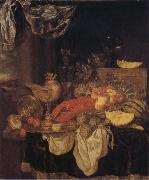 BEYEREN, Abraham van Still Life with Lobster oil painting reproduction