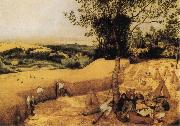 BRUEGHEL, Pieter the Younger The Corn Harvest oil painting reproduction