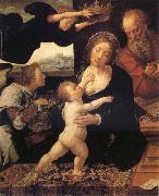Barend van Orley Holy Family painting