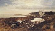 Benjamin Williams Leader The Excavation of the Manchester Ship Canal oil on canvas