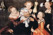 CRANACH, Lucas the Elder Hercules and Omphale painting