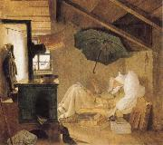 Carl Spitzweg The Poor Poet oil on canvas