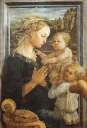 Fra Filippo Lippi Madonna and Child with Two Angels oil painting reproduction