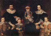 Frans Francken II The Family of the Artist oil