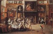Frans Francken II Supper at the House of Burgomaster Rockox oil