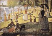 Georges Seurat Sunday Afternoon on the Island of La Grande Jatte oil painting reproduction