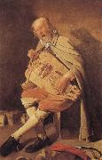 Georges de La Tour Hurdy-Gurdy Player painting