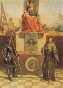 Giorgione Virgin and CHild with SS Francis and Liberalis oil painting