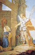 Giovanni Battista Tiepolo Sarah and the Archangel oil painting reproduction