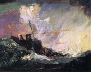 Henry Reuterdahl American Destroyer Patrol along the Atlantic frome Art and the Great War oil
