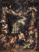 Jan Brueghel The Elder The Holy Family oil painting reproduction