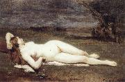 Jean Baptiste Camille  Corot Recreation by our Gallery oil painting reproduction