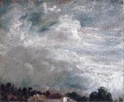 John Constable horizon of trees 27September 1821 painting