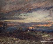John Constable Hampstead Heath,sun setting over Harrow 12 September 1821 painting