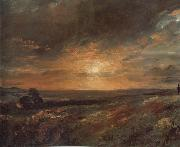 John Constable Hampsted Heath,looking towards Harrow at sunset 9August 1823 painting