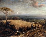John linnell Harvest Moon painting
