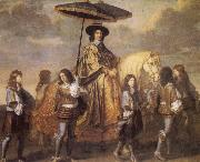 LE BRUN, Charles Chancellor Seguier at the Entry of Louis XIV into Paris in 1660 oil painting reproduction