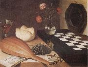 Lubin Baugin Still Life with Chessboard oil painting