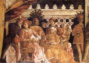MANTEGNA, Andrea The Gonzaga Family and Retinue finished oil painting reproduction