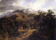 Nicholas Chevalier The Buffalo Ranges,Victoria china oil painting artist