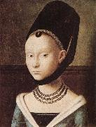 Petrus Christus Portrati of a Lady oil painting