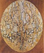 Piet Mondrian Oval Compositon painting