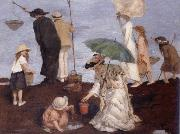 Rupert Bunny Shrimp fishers at Saint-Georges oil
