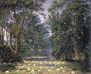 William Turner of Oxford Cherwell Water Lilies, oil on canvas
