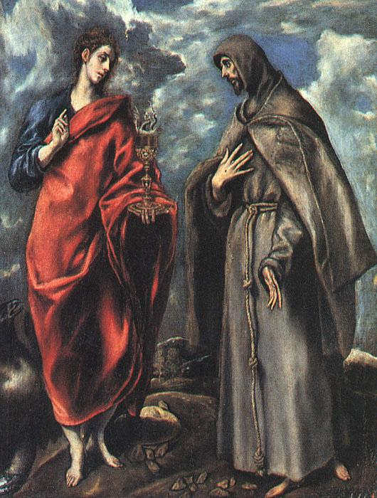 El Greco Saints John the Evangelist and Francis china oil painting image