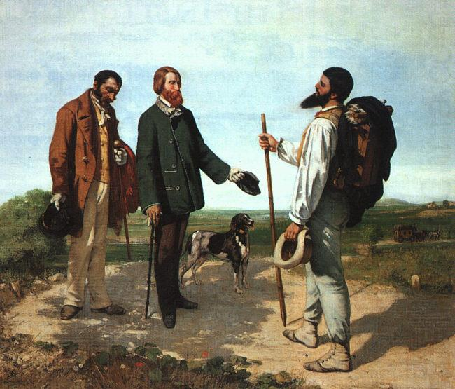Gustave Courbet Bonjour Monsieur Courbet china oil painting image