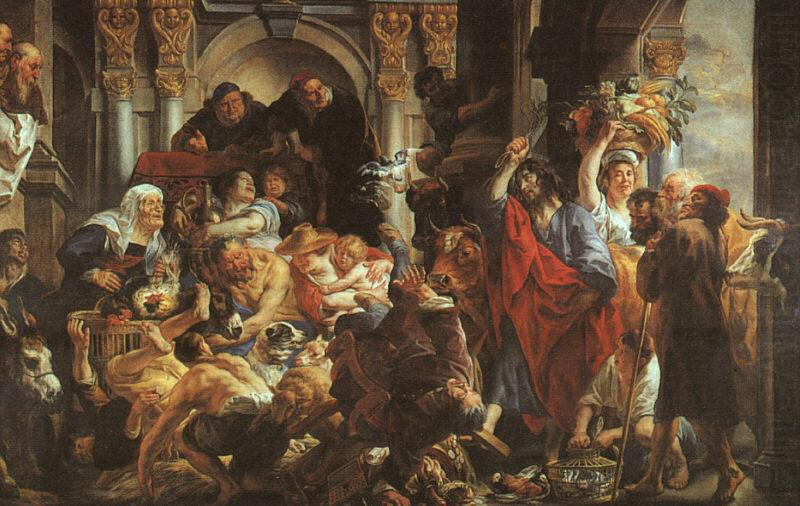 Jacob Jordaens Christ Driving the Merchants from the Temple china oil painting image