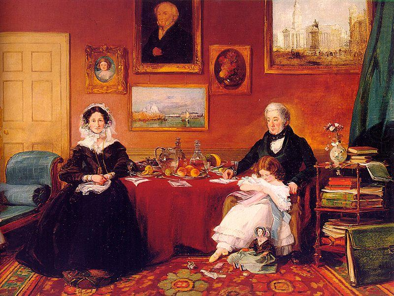James Holland The Langford Family in their Drawing Room china oil painting image