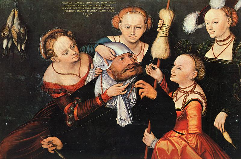 Lucas  Cranach Hercules Onfale china oil painting image