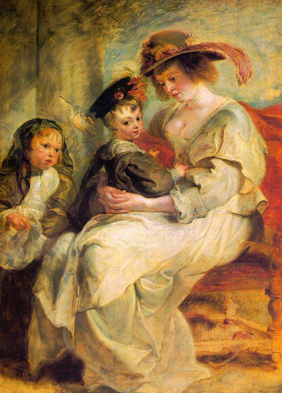 Peter Paul Rubens Helene Fourment and her Children, Claire-Jeanne and Francois china oil painting image