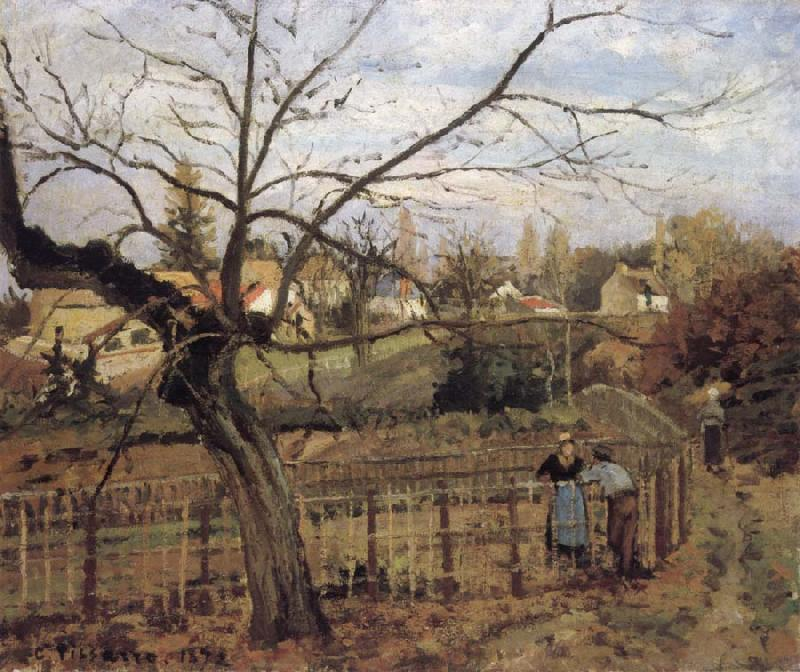 Camille Pissarro The Fence La barriere china oil painting image