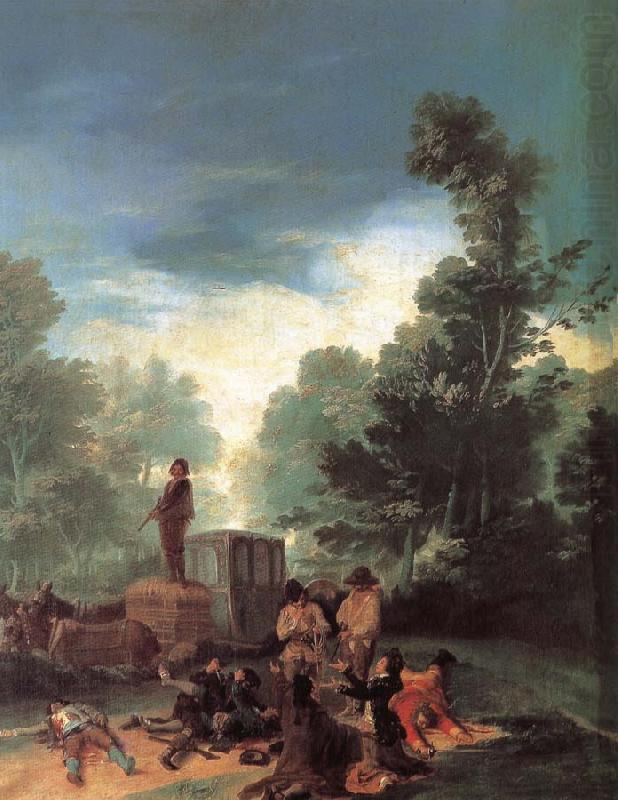 Francisco Goya Highwaymen Attacking a Coach china oil painting image