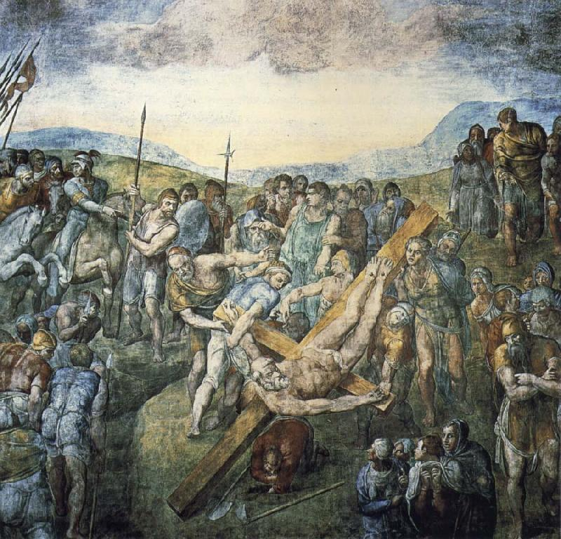 Michelangelo Buonarroti The crucifixion of the Hl. Petrus china oil painting image