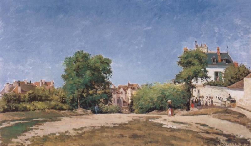 Camille Pissaro The Crossroads,pontoise china oil painting image